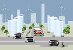 A cidade do conceito futuro ilustração stock