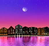 Cidade do conto de fadas Foto de Stock
