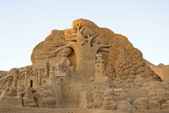 Cidade do conto de fadas da areia Imagem de Stock