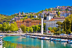 Cidade do delta de Rijeka e da opinião do trsat imagens de stock