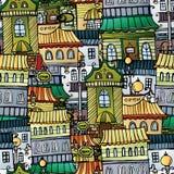 Cidade do desenho do conto de fadas do vetor dos desenhos animados Ilustração Stock