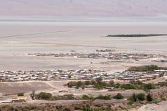 Cidade do deserto no Chile foto de stock