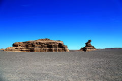 Cidade do diabo de Dunhuang Yadan foto de stock