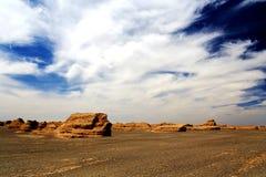 Cidade do diabo de Dunhuang Yadan foto de stock royalty free