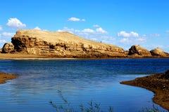 A cidade do diabo de Yardang da água, o landform original do yardang da água do ` s do mundo Imagem de Stock Royalty Free