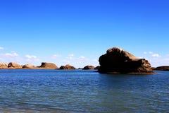A cidade do diabo de Yardang da água, o landform original do yardang da água do ` s do mundo Fotos de Stock