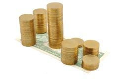 Cidade do dinheiro Imagem de Stock Royalty Free