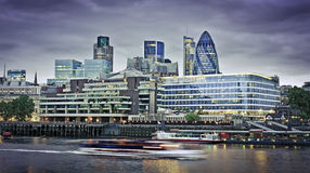 Cidade do distrito financeiro de Londres Imagens de Stock Royalty Free