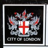 Cidade do emblema de Londres Fotografia de Stock