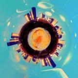 Cidade do espaço Fotografia de Stock Royalty Free