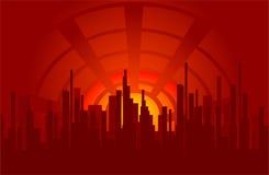 Cidade do espaço ilustração royalty free