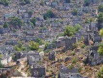 Cidade do fantasma de Levissi Kayakoy foto de stock royalty free