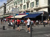 Cidade do francês da área de porto velho de Marselha Fotografia de Stock Royalty Free