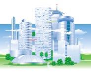 Cidade do futuro Foto de Stock Royalty Free