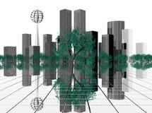 Cidade do futuro Fotografia de Stock