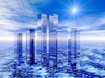 Cidade do futuro Imagem de Stock