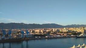 Cidade do golfo e de porto Palermo, Itália video estoque