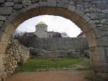 Cidade do grego clássico o Chersonese A catedral de Volodimir imagens de stock