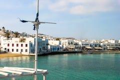 Cidade do grego do beira-mar Imagem de Stock