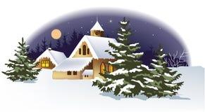 Cidade do inverno ilustração do vetor