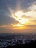 Cidade do inverno Fotografia de Stock
