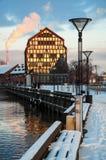 A cidade do inverno Fotografia de Stock