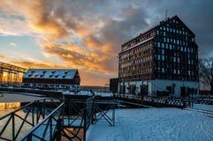 A cidade do inverno Imagem de Stock Royalty Free