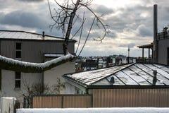 Cidade do inverno Imagem de Stock Royalty Free