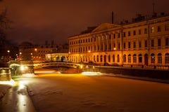 cidade do inverno de St Petersburg fotos de stock