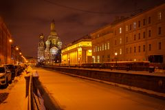 cidade do inverno de St Petersburg imagem de stock royalty free