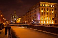 cidade do inverno de St Petersburg fotografia de stock royalty free