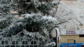 A cidade do inverno dirige o ramo video estoque