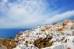 Cidade do Io em Santorini, Itália fotos de stock