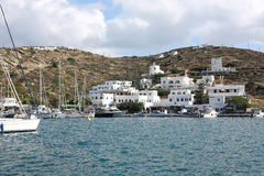 Cidade do Ios na ilha do Ios, Grécia fotografia de stock royalty free