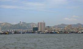 A cidade do lado de mar Imagem de Stock Royalty Free