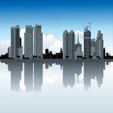 Cidade do lago Imagens de Stock Royalty Free