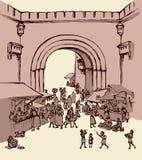Cidade do Leste velha Desenho do vetor ilustração do vetor