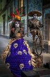 CIDADE DO MÉXICO, MÉXICO - novembro, 21, 2013: Músico da rua de México Imagens de Stock Royalty Free