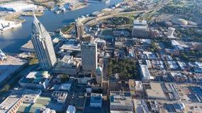 Cidade do móbil, Alabama fotografia de stock royalty free
