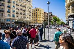 Cidade do Madri Foto de Stock Royalty Free