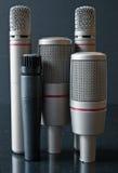 Cidade do microfone imagens de stock