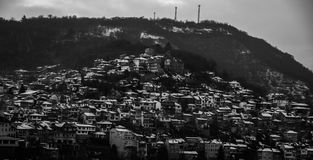 Cidade do monte Imagens de Stock