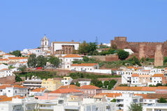 Cidade do Moorish de Silves fotografia de stock