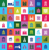 Cidade do mosaico Foto de Stock Royalty Free