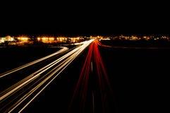Cidade do movimento da noite Imagem de Stock Royalty Free