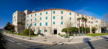 Cidade do museu de Šibenik panorâmico Fotos de Stock Royalty Free