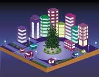 cidade do Natal 3D Imagem de Stock