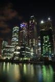 Cidade do negócio em Moscovo na noite Foto de Stock Royalty Free