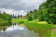 Cidade do norte Taivalkoski fotos de stock royalty free