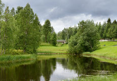 Cidade do norte Taivalkoski fotografia de stock royalty free
